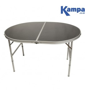 Kampa Campingbord Oval 120 x 90 cm