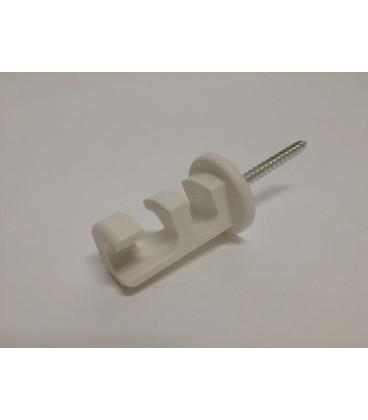 Hvid plastik med skrue