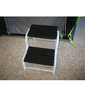Dobbelt trappe i sort/hvid